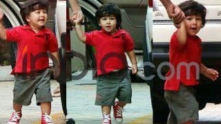 Taimur Ali Khan Looks Cutest Wearing a Red T-Shirt; Gives Expressions For Every Mood; See Latest Pics