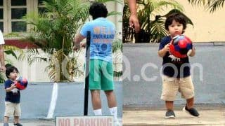 Taimur Ali Khan's Latest Pictures Holding a Football And Carefully Listening to Daddy Saif Ali Khan Are Going Viral