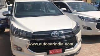 Toyota Innova Crysta Touring Sport spotted at a dealership; India launch in May