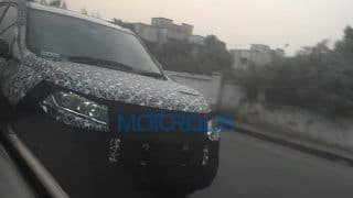 2018 Mahindra XUV500 Facelift Spy Images Reveal New Headlights & Front Design