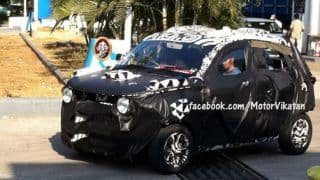 Mahindra's compact SUV 'S101' spotted