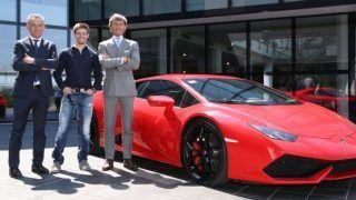 MotoGP Star Casey Stoner visits Lamborghini for a closer look at the making-of-the raging bull