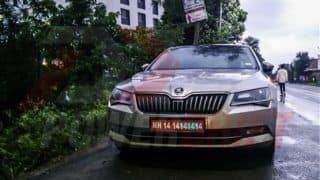 2016 Skoda Superb spotted testing in India sans Camouflage