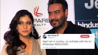 Ajay Devgn Shares Kajol's WhatsApp Number on Twitter And People Go Crazy; See The Viral Tweet