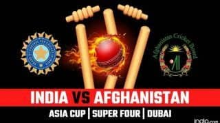 India vs Afghanistan Asia Cup 2018 Super Four in Dubai Live Streaming: When And Where to Watch on TV And Online/Timings in IST