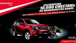 Mahindra celebrates 10,000 XUV 500 sales in Maharashtra; assures swift delivery