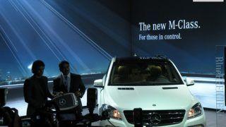 2012 Mercedes Benz ML350 CDI caught testing in India