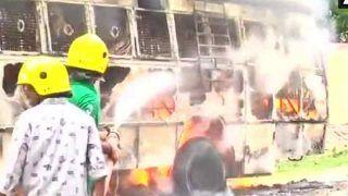 उप्र : अलग 'पूर्वांचल' राज्य के लिए पीएम से मिलने का समय नहीं मिला तो महिला ने बस में लगाई आग