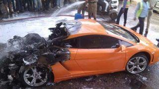 This is what happened to an INR 2.5 Crore Lamborghini Gallardo on Delhi Road