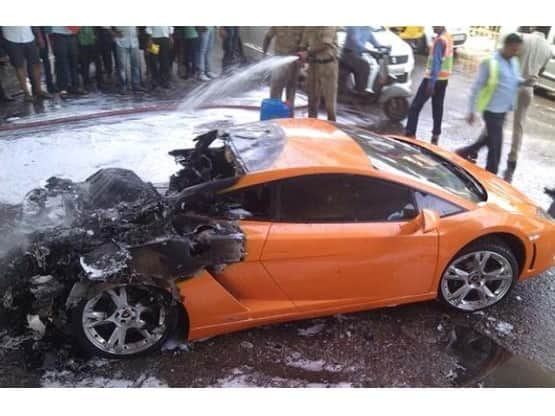This is what happened to an INR 2.5 Crore Lamborghini