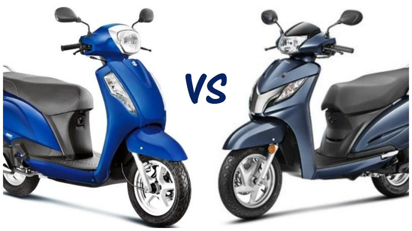 Suzuki Access 125 vs Honda Activa 125 - Price, Features and