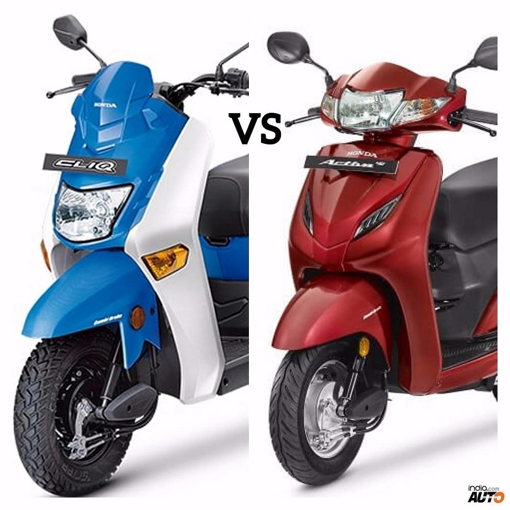 Honda Cliq Vs Honda Activa 4G Comparison Report: Price, Specifications,  Features, Mileage