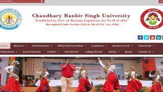 CRSU B.Ed Result 2018ः हरियाणा के चौधरी रणबीर सिंह यूनिवर्सिटी का B.ED रिजल्ट घोषित... यहां करें चेक