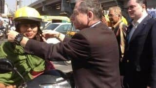 FIA president Jean Todt visits Mumbai to promote road safety