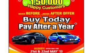 Toyota introduces ''Buy Today Pay After a Year' offer on Etios & Etios Liva