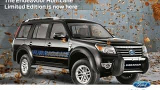 Ford Endeavour 4x4 Hurricane Limited Edition launched
