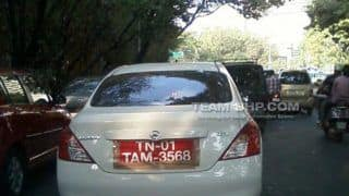 Nissan Sunny automatic caught testing in India