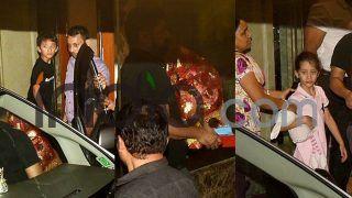 Sanjay Dutt's Cute Kids Shahraan and Iqra Bring Ganpati Home; See Latest Pics