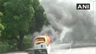 Delhi: CISF Vehicle Catches Fire, no Casualties Reported