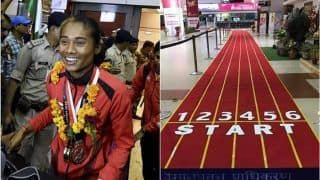 After Bagging Gold at Asian Games 2018, Hima Das Returns Home to Rousing Reception