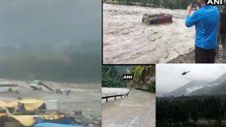 VIDEO: हिमाचल में बारिश ने मचाई तबाही, देखते-देखते बह गए ट्रक-बस, अलर्ट जारी