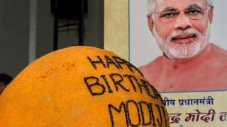 PM Modi Turns 68, His Cabinet Colleagues Unveil a 568-kg Laddoo