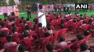 PM Narendra Modi Turns Teacher For School Children at Varanasi