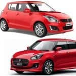 Maruti Swift 2018 - New vs Old Comparison; Design, Features, Images & Specifications