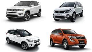 Jeep Compass vs Hyundai Creta vs Mahindra XUV500 vs Tata Hexa: Price and Variant Comparison