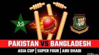 Asia Cup 2018 Pakistan vs Bangladesh Super Four 6th Match in Abu Dhabi Live Streaming: When And Where to Watch on TV And Online/Timings in IST