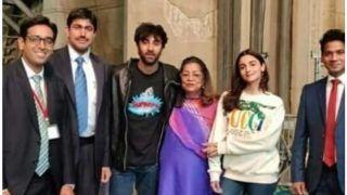 Brahmastra : Alia Bhatt And Ranbir Kapoor Stand Close to Karan Johar's Mother And Smiles For The Camera