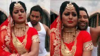 Bhojpuri Sensation Anjana Singh Gets Angry on Dinesh Lal Yadav Aka Nirahua, This is How he Made Her Smile, Watch