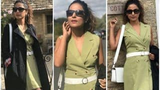 Hina Khan in Green Teases Fans With Latest Hot Pictures While She Enjoys London Vacation, See Photos