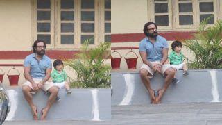 Taimur Ali Khan Cries in Latest Pics as Daddy Saif Ali Khan Looks Lost, See Pics