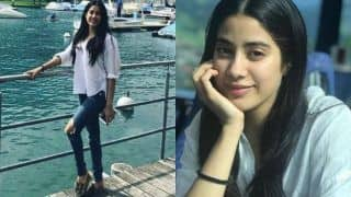 Janhvi Kapoor in Ripped Jeans And White Top Looks Hot as She Enjoys Cool Weather of Switzerland