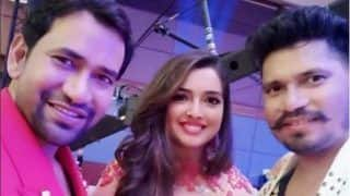 Bhojpuri Bombshell Amrapali Dubey Shares a Happy Picture With Rumoured Lover Dinesh Lal Yadav Aka Nirahua as She Thanks Fans For Border's YouTube Success