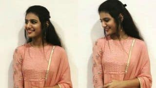 Priya Prakash Varrier Takes The Internet by Storm With Her Cheerful Smile in Peach Suit, See Pic