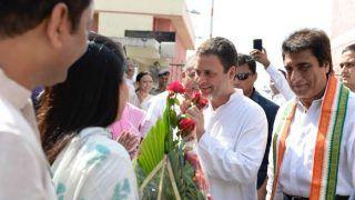 राहुल गांधी आज से दो दिवसीय अमेठी दौरे पर, लखनऊ एयरपोर्ट से हुए रवाना