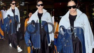 Sonam Kapoor Wears a Bizarre Double Collared Denim Shirt; See Her Latest Airport Pics