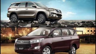 GST Cess Hike on Cars: Toyota Fortuner, Innova Crysta, Corolla Altis, Platinum Etios Prices Increased by up to INR 1.6 Lakh