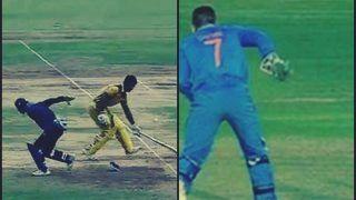 Vijay Hazare Trophy 2018: Jharkhand vs Maharashtra -- Ishan Kishan Does a MS Dhoni Back Flick, Almost Pulls it Off -- WATCH