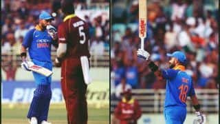 India vs West Indies 2nd ODI: Virat Kohli Surpasses Kumar Sangakkara, Ricky Ponting to Record Most Man of The Match+Man of The Series Awards in International Cricket