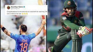 India vs West Indies 2nd ODI: Bangladesh Captain Mushfiqur Rahim's Tweet After Virat Kohli's Record-Breaking 37th Century And 10,000 ODI Runs is Winning Hearts