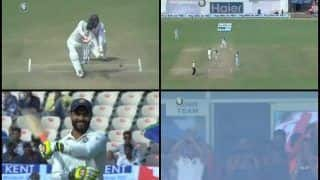 India vs West Indies 1st Test Day 2 at Rajkot: Ravindra Jadeja Smashes Record-Breaking Maiden Ton, Virat Kohli-Led Side's Reaction is Priceless -- WATCH