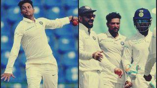 India vs West Indies Tests 2018: Former Pakistan Spinner Saqlain Mushtaq Praises Kuldeep Yadav For His Brilliant Performance