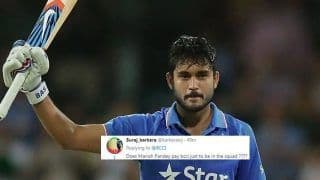 BCCI Announce Squad For ODIs Against Windies, Twitter Confused How Manish Pandey Finds Spot in Virat Kohli-Led India