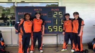 Cricket Team in Australia Scores 596/3 in 50 overs, Then Bundle Opponent Team For 25 Runs