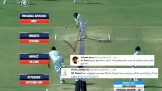 India vs West Indies 1st Test Day 1 Rajkot: KL Rahul Gets Trolled For Wasting Review After Umpire Gives Him Out -- WATCH