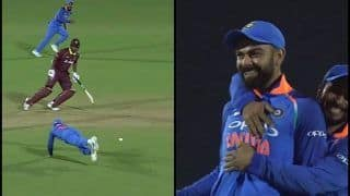 India vs West Indies 4th ODI: Virat Kohli Does an AB de Villiers, Affects Runout to Send Kieron Powell Packing, Set Twitter on Fire -- WATCH