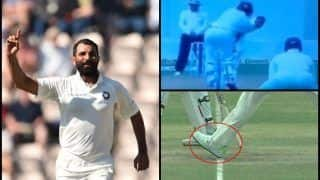 India vs West Indies 1st Test Day 2 at Rajkot: Mohammed Shami Dismisses Kraig Braithwaite to Give Virat Kohli & Co Advantage After Ravindra Jadeja Slams Maiden Century -- WATCH